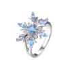 Genuine Swiss Blue Topaz Ring Solid 925 Sterling Silver - DesignIN