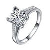 White Gold Filled Square Ring Brilliant AAA Cubic Zirconia Engagement Ring - DesignIN