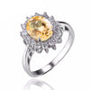 925 Sterling Silver 1.8ct Natural Citrine Ring - DesignIN