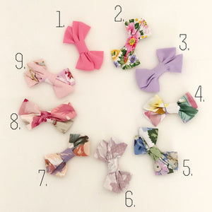 Beautiful Fabric Bow Headband/ Clip- Summer Collection