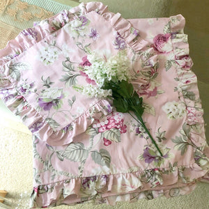 Quilt Cover + Pillow Slip Set In 'Sophia' Rose Vine