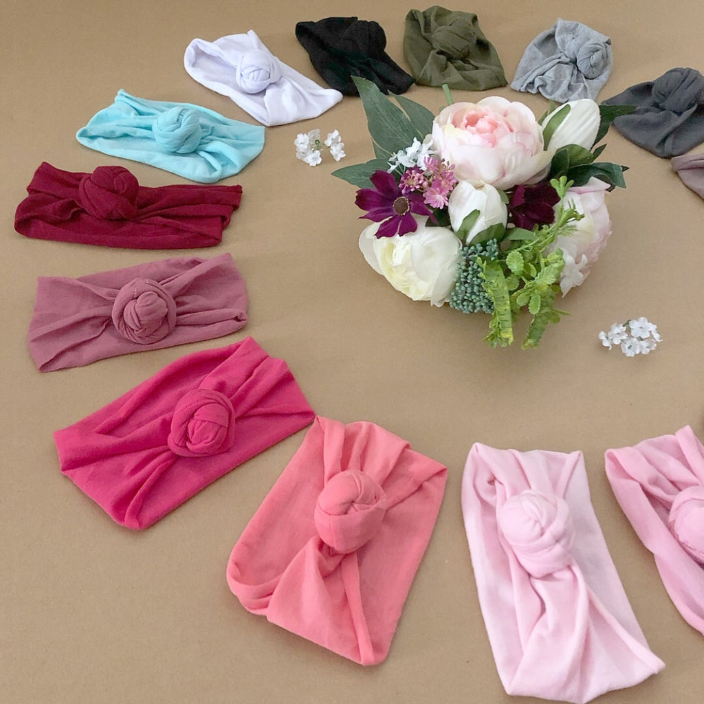 Rose Knot Turban Head Wrap/ Headbands! 16 Colours!