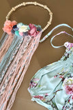 Extra Large Wooden Bead & Flower Wall Hanging Dreamcatcher