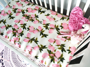 'Pretty Pomegranates' Fitted Cot Sheet