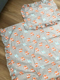 Lil Foxes Fitted Cot Sheet OR Quilt Cover Set