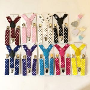 COLOUR POP! Adjustable Polka Dot Braces/ Suspenders