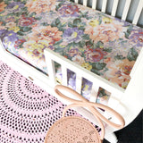 Fitted Cot Sheet in 'Dahlia' Vintage Floral