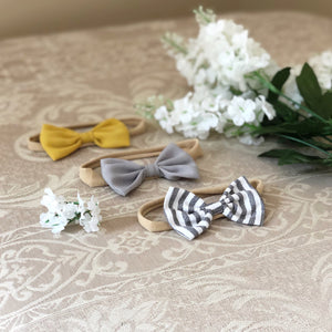 3pc Beautiful Fabric Bow Headband Set