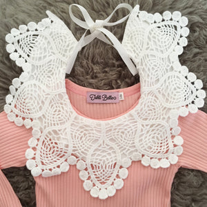 Vintage Style Crochet Lace Cotton Bib Collar- 4 Colours