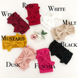 Large Bow Head Wrap/ Headbands in Autumn Tones