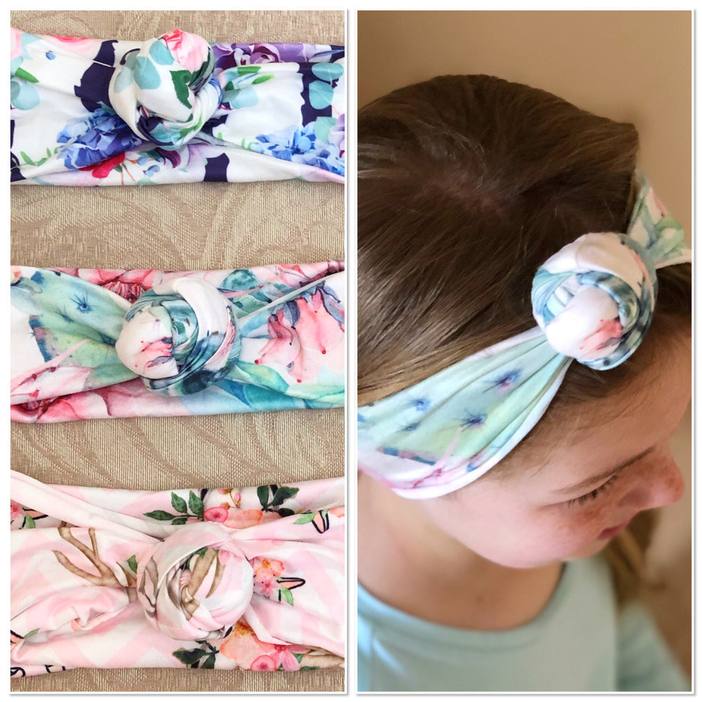 Ultra Soft Rose Knot Turban Head Wrap Headband