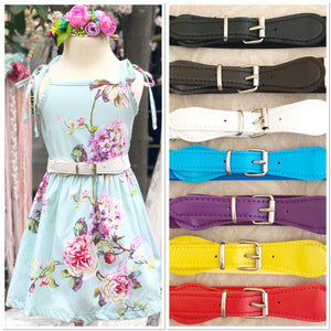 Faux Patent Leather Buckle Cinch Waist Belt