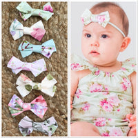 Matching Spring/ Summer Collection BOW Headband/ Clip