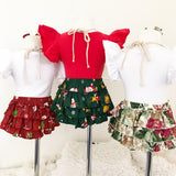 Green 'Frosty' Snowman Ruffle Bum Bloomers