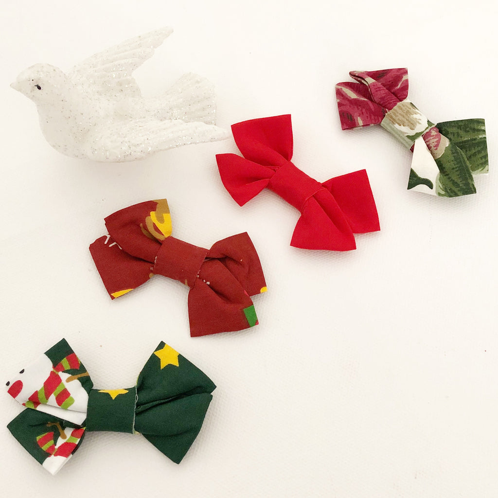Christmas Bow Headband/ Clip