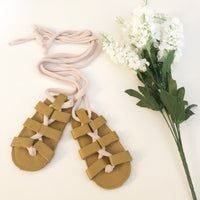 LAST ONES- Tan Strappy LEATHER Gladiator Sandals