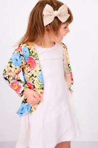 Colourful Floral 'Hi-Lo' Slouch Cardigan