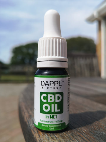 Organic CBD Oil Whole Plant Extract in MCT Coconut - DAPPE