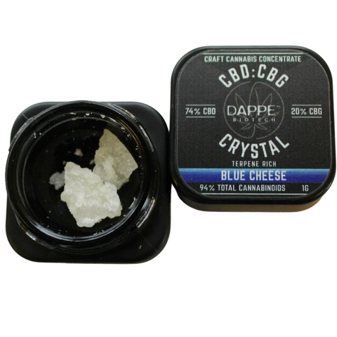 CBD:CBG Crystal - Blue Cheese (94% Cannabinoids) 1g - DAPPE
