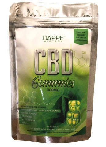 CBD Vegan Gummy Bears (300mg) - DAPPE