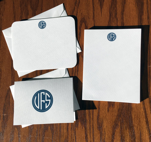 Signature Monogrammed Stationery and Note Pads