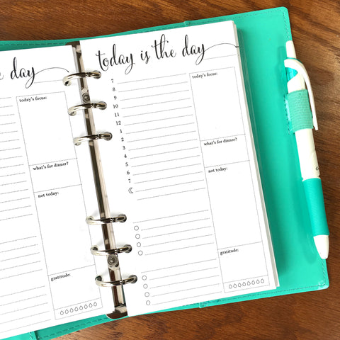 personal size daily planner inserts