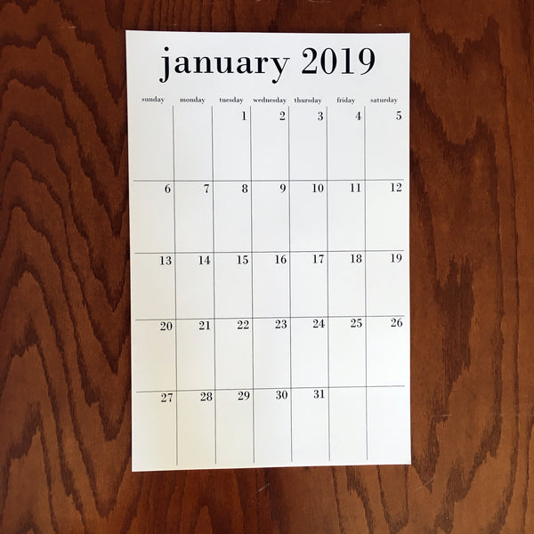 Wholesale calendars, options for 12 month 2019 or 18 month July 2018-December 2019