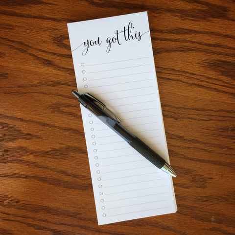 tall to do list note pad