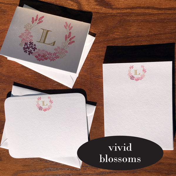 vivid blossoms custom stationery