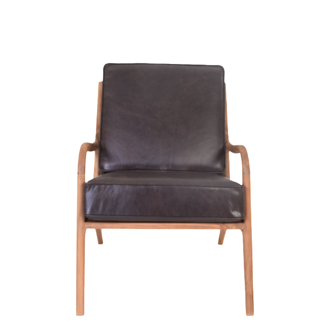 Aalborg Day Chair Single Seat   Leather, Dark Brown