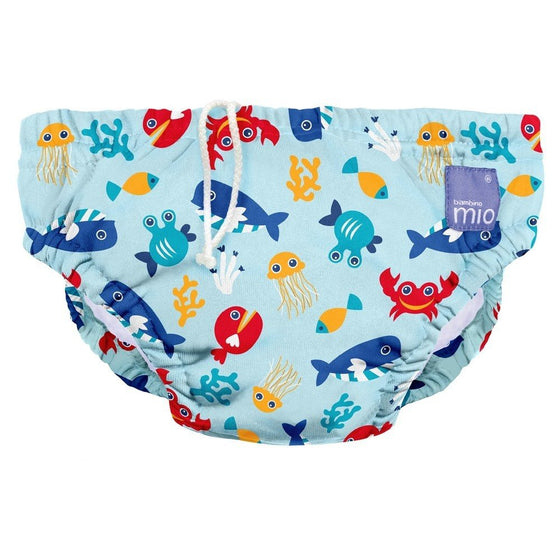 Swim Nappies Large (9-12kgs) - Deep Sea Blue - Little Whale