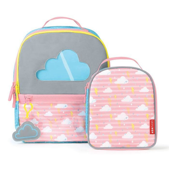 Forget Me Not Backpack & Lunch Bag Set - Cloud - Little Whale