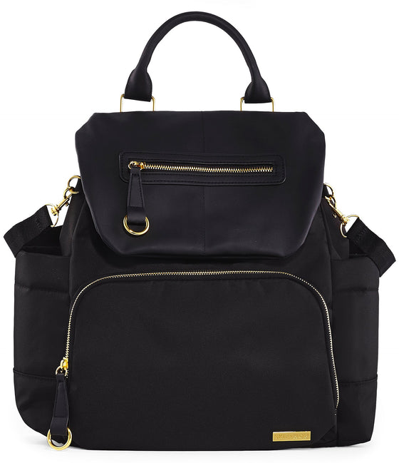 Chelsea Downtown Chic Diaper Backpack - Black - Little Whale