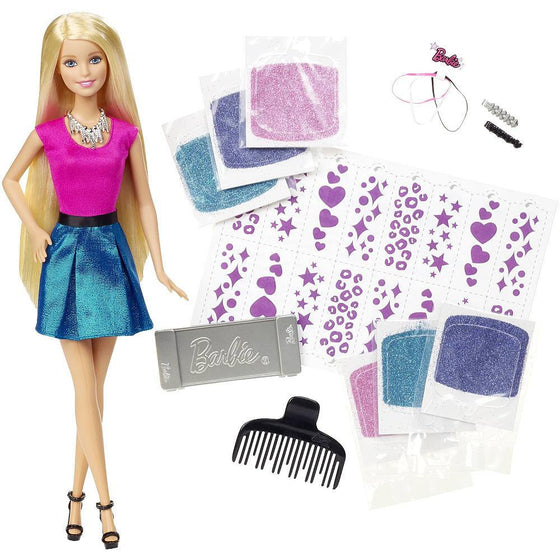 Barbie glitter hair doll - Little Whale