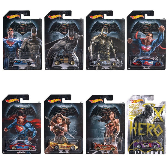 Batman vs Superman Dawn of Justice - Hot Wheels (Assorted) - Little Whale