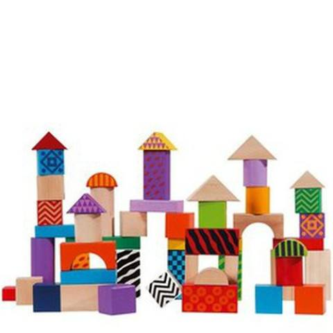 Wooden Building Blocks 50pc (12m+) - Little Whale