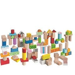 Wooden Building Blocks 100pc (12m+) - Little Whale