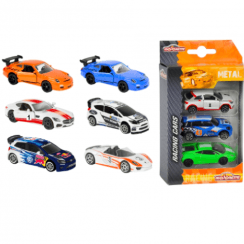 Racing Cars 3 Pieces Set Asst - Little Whale