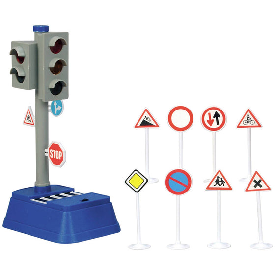 Traffic Signal 24cm w Light - Little Whale