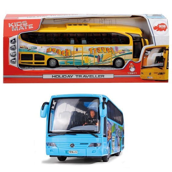 Mercedes Bus Yellow / Blue Asst 27cm - Little Whale