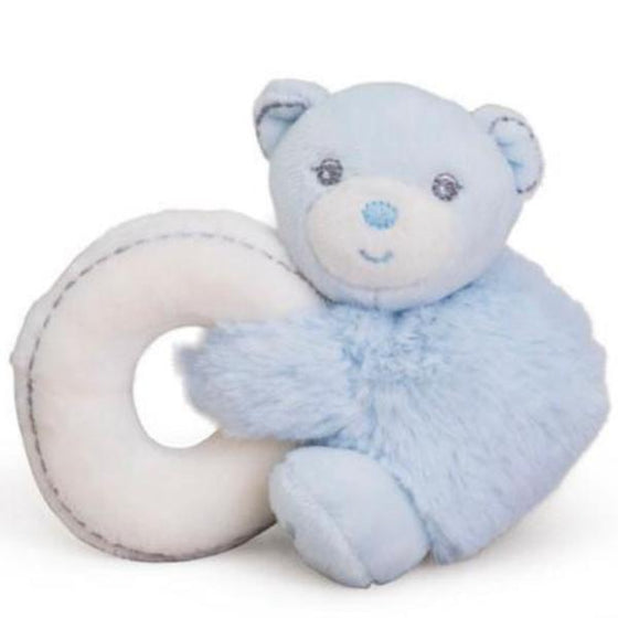 Mini Bear Blue Rattle - Little Whale
