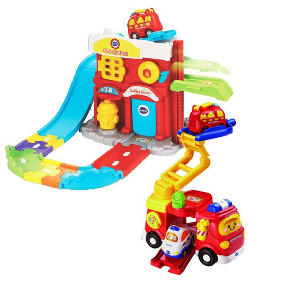 Toot-Toot Drivers Fire Station Deluxe (12m+) - Little Whale
