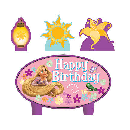 Tangled rapunzel birthday candles - Little Whale