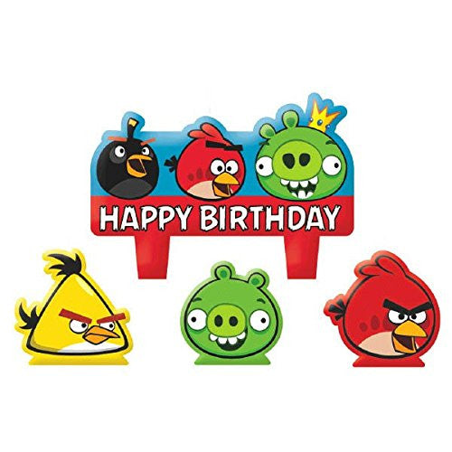 Angry Birds Birthday Candles 4ct - Little Whale