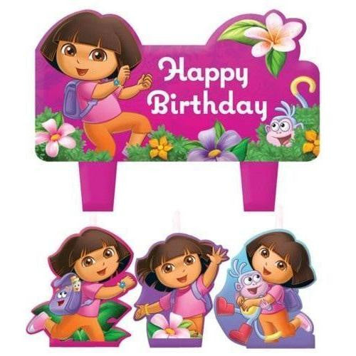 Dora the explorer birthday candles - Little Whale