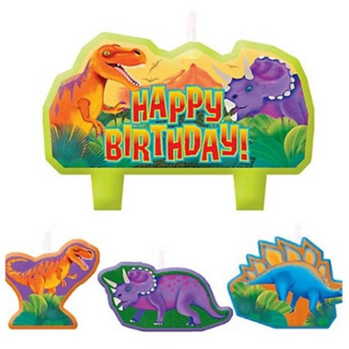 Prehistoric Dinosaurs Birthday Candles - Little Whale
