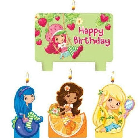 Strawberry Shortcake Birthday Candles 4ct - Little Whale