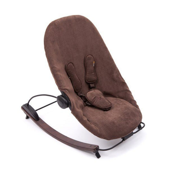 coco go 3-in-1 lounger (Cappuccino frame with Brown seat pad) - Little Whale