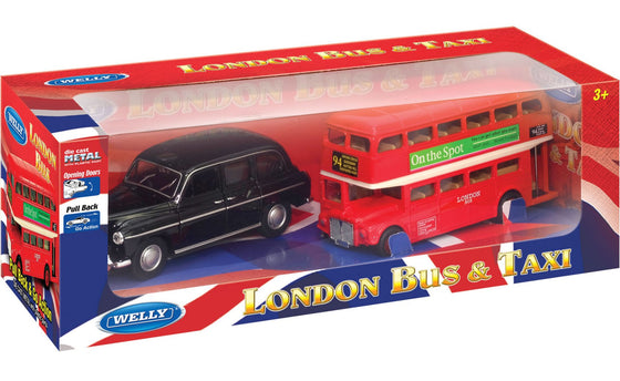 London Bus & Taxi Set 5-inch - Little Whale