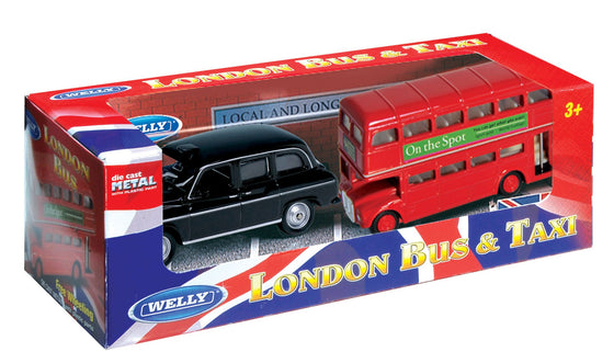 London Bus & Taxi Set 3-inch - Little Whale
